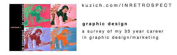 link to John Kuzich an Amerian Graphic Designer In Retrospect website
